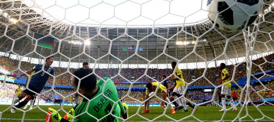Osako celebra su gol contra Colombia