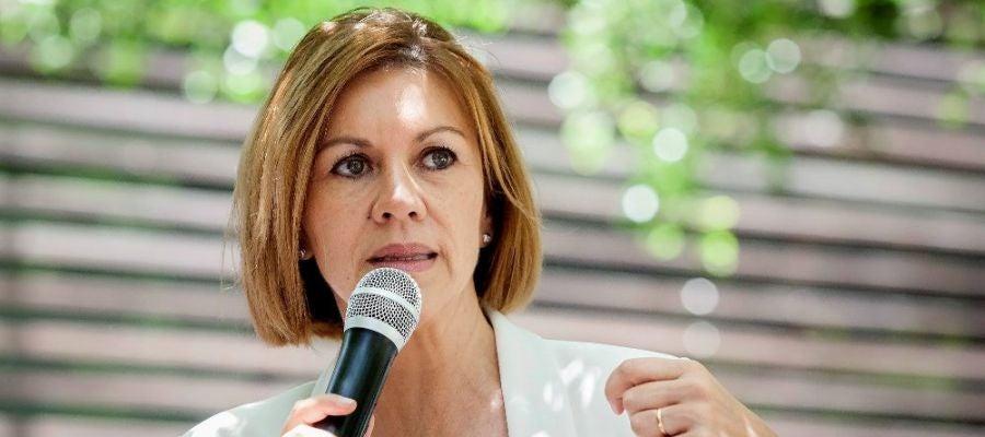 Cospedal en un encuentro con los afiliados al PP en Santa Cruz de Tenerife