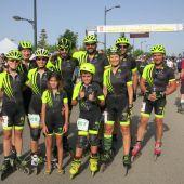 Los representantes del Club Patinaje Elche, en la Roller Maratón Ciudad de Albacete.