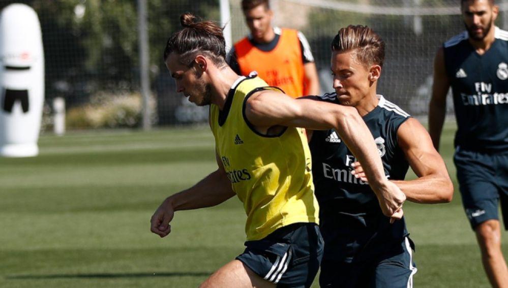 Gareth Bale durante un entrenamiento