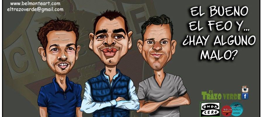 Jorge Cordero, Sergio Mantecón y Edu Albacar, responsables del área deportiva del Elche CF.