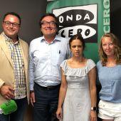 Juan Carlos Enrique (director Onda Cero Illes Balears), Josep Vilaseca (delegado territorial de la ONCE), Mari Carmen Soler (presidenta del Consejo Territorial de la ONCE) y Elka Dimitrova (jefa de informativos de Onda Cero Illes Balears)