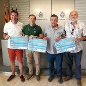 El concejal de Deportes junto a los presidentes de los clubs de Natación de Elche