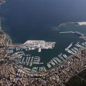 Imagen aérea del puerto de Palma