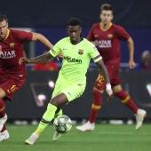 Semedo durante un partido contra la Roma