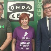 Gorka Urtaran, alcalde de Vitoria y Gorka Ortiz de Urbina, Celedón en #Euskadienlaonda.
