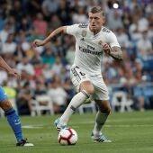 Toni Kroos en un partido contra el Getafe C.F
