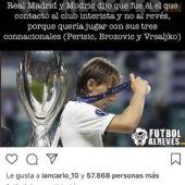 Respuesta de Modric en Instagram