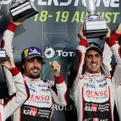 Fernando Alonso, en una carrera con Toyota