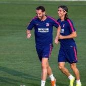 Filipe Luis en un entrenamiento