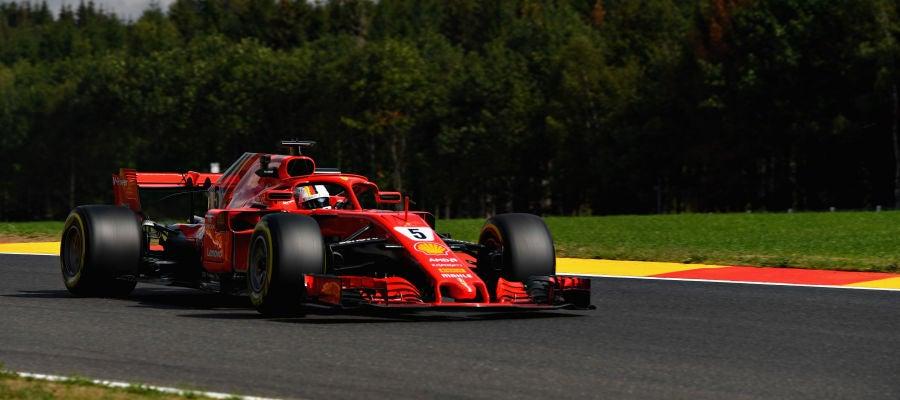 Vettel en Spa