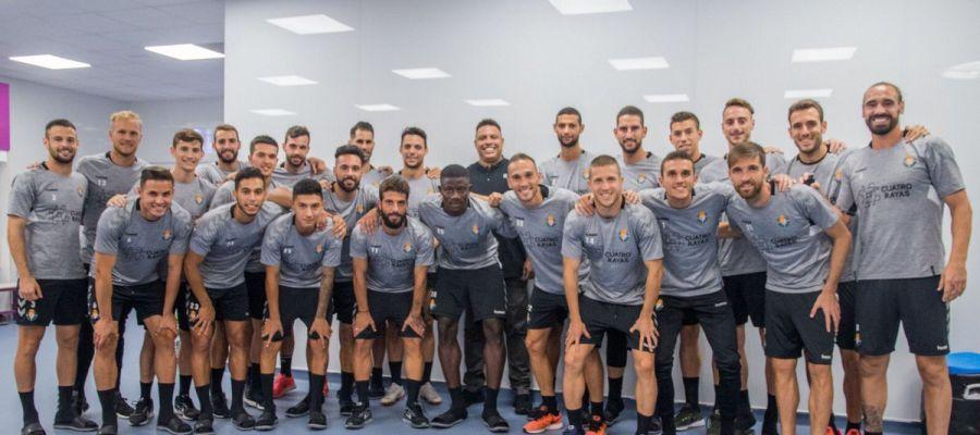 Ronaldo, con la plantilla del Valladolid