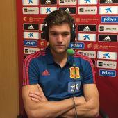 Marcos Alonso, lateral de la Selección y del Chelsea.