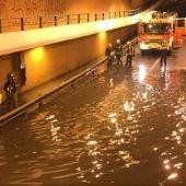 Inundación en el subterráneo de la calle Torrelaguna