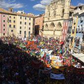 Plaza Mayor de Cuenca en 2017 durante el pregón de San Mateo