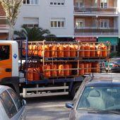 Camión de bombonas de butano