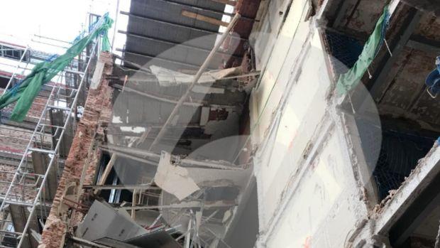 Interior del hotel Ritz tras el desplome