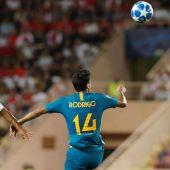 El centrocampista del Atlético, Rodrigo.
