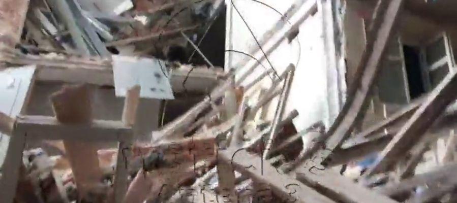 Antena 3 Noticias accede al interior del hotel Ritz apenas unas horas después del derrumbe en el que ha muerto un trabajador