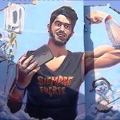 Un instituto de Cartagena homenajea a Pablo Ráez con un mural en su fachada
