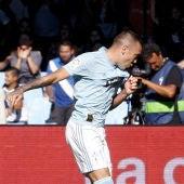 Iago Aspas celebra un gol