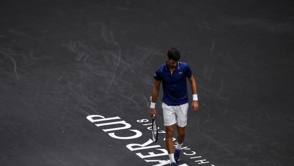 Novak Djokovic, en su partido ante Kevin Anderson