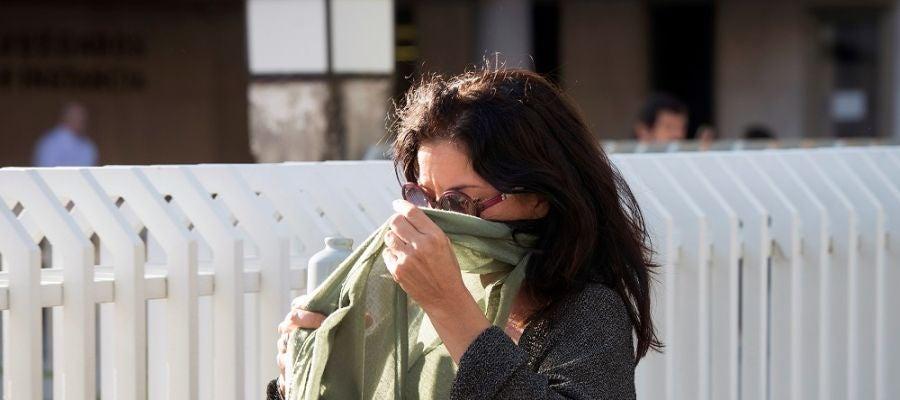 Imagen de archivo de Laura Nuño a su salida de los juzgados tras declarar como investigada