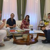 Reunión entre representantes de los Ayuntamientos de C.Real y Poblete, Diputación y Junta