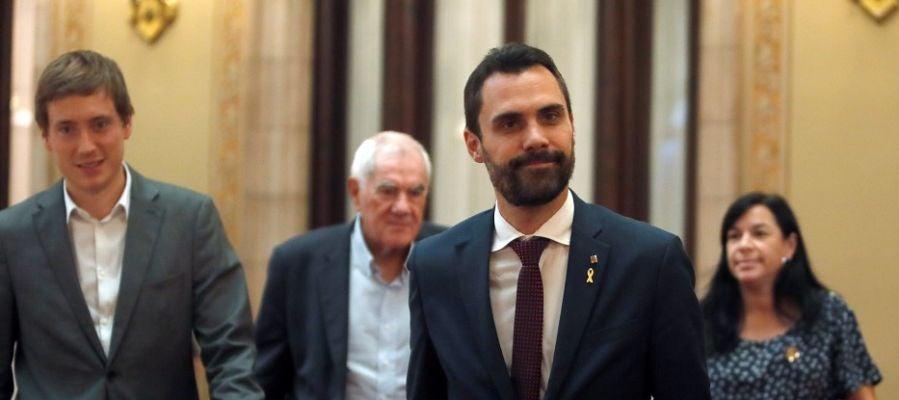 Roger Torrent en el Parlament