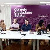 la reunión del Consejo Ciudadano Estatal de Podemos