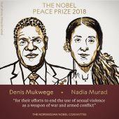 Denis Mukwege y Nadia Murad, premios Nobel de la Paz 2018