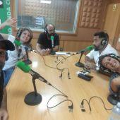 Miembros de Clapso Teatro en Onda Cero Las Palmas