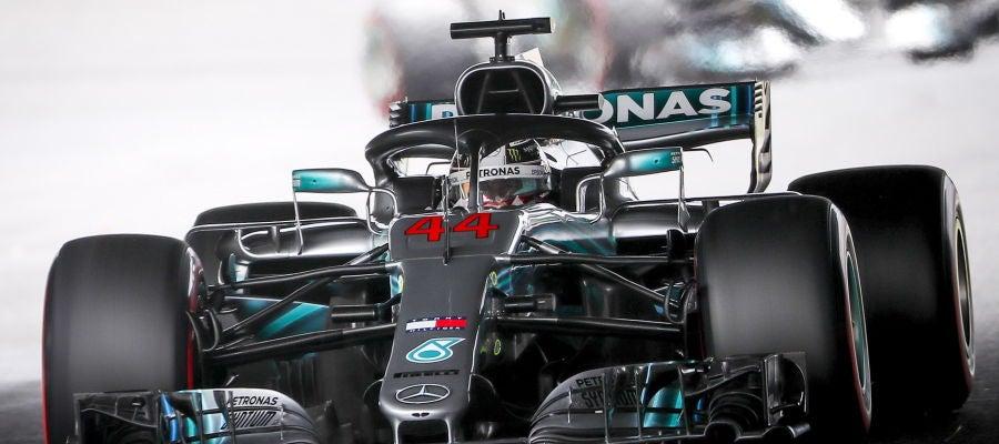 Lewis Hamilton, en la clasificación del GP de Japón