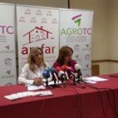 Lola Merino y Mariani Cifuentes durante la rueda de prensa