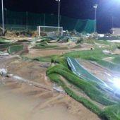 El campo de fútbol de Sant Llorenç, totalmente arrasado por la riada