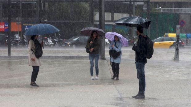 Intensas lluvias en Cataluña