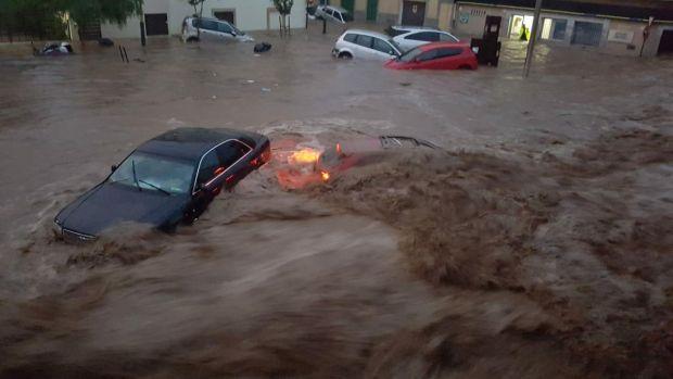Inundaciones en San Llorenç