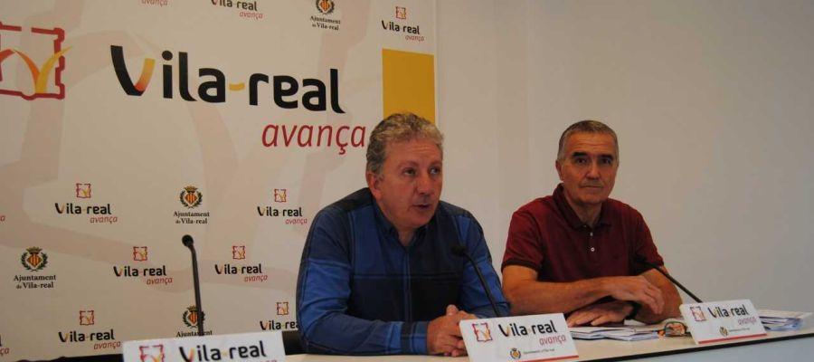 El regidor d´Esports Javier Serralvo i el tècnic del SME José Ramón Cantavella durant la seva compareixença.
