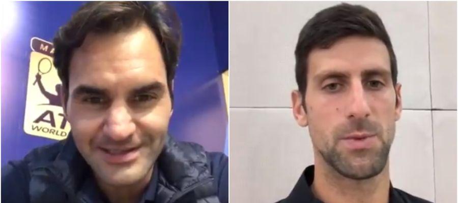 Federer y Djokovic mandan mensajes a los afectados por las inundaciones en Mallorca
