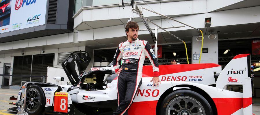 Fernando Alonso se prepara para competir en las 6 Horas de Fuji