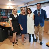 Responsables de la Fundación Atresmedia con la consellera de Salud balear, Patricia Gómez.