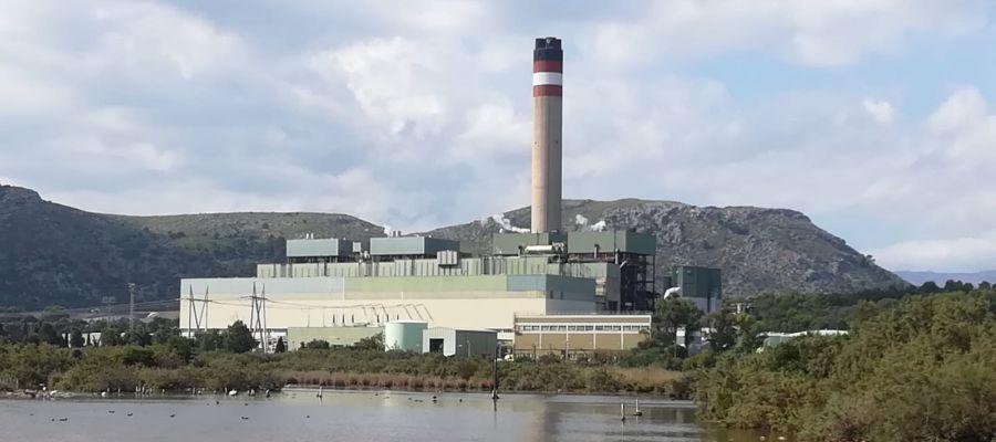 Central térmica de Es Murterar en Alcudia (Mallorca).