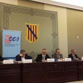 El Presidente del CES, Carles Manera, en la presentación de la Memoria Anual 2017.