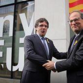 Carles Puigdemont y Quim Torra en una imagen de archivo