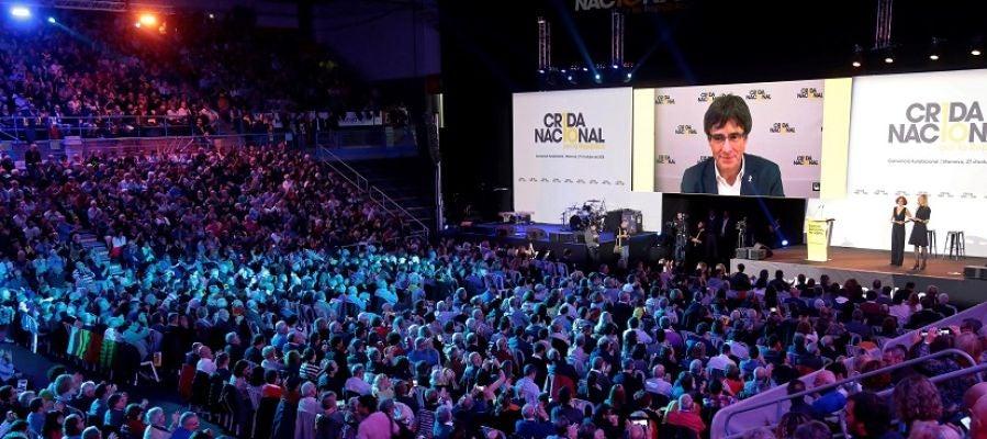 Carles Puigdemont en el acto de la Crida Nacional
