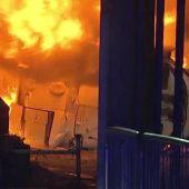 El helicóptero del dueño del Leicester, en llamas