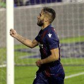 Rubén Rochina celebra su gol ante el Leganés