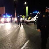 Control nocturno de la Policía Local de Elche