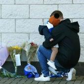 Flores en el estadio del Leicester