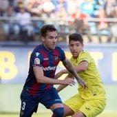 Toño García, durante un partido contra el Villarreal